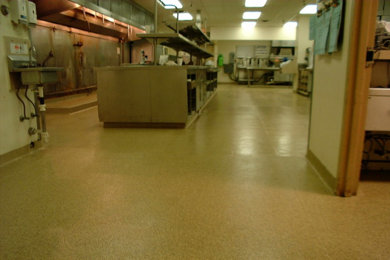 Airport Hilton Commercial Kitchen Floor Epoxy Granite Floor