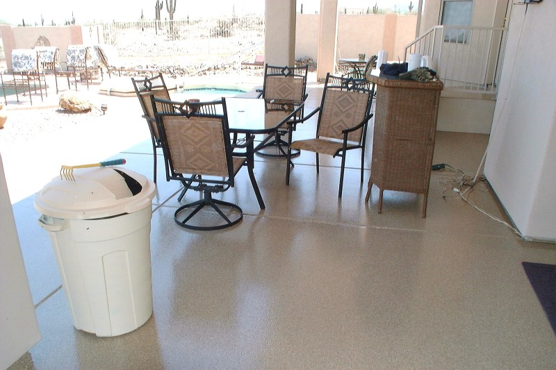 Back Patio Epoxy Floor Coating