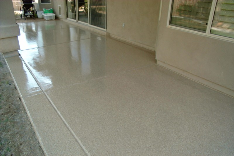 Patio Epoxy Urethane Small Chips Torque Tan