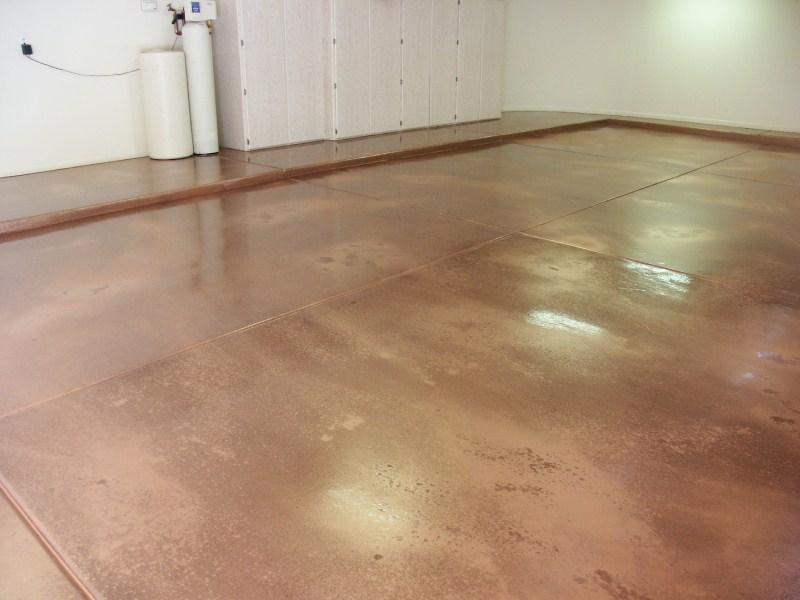 copper metallic epoxy flooring