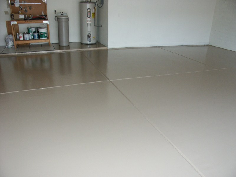 solid color epoxy floor torque tan
