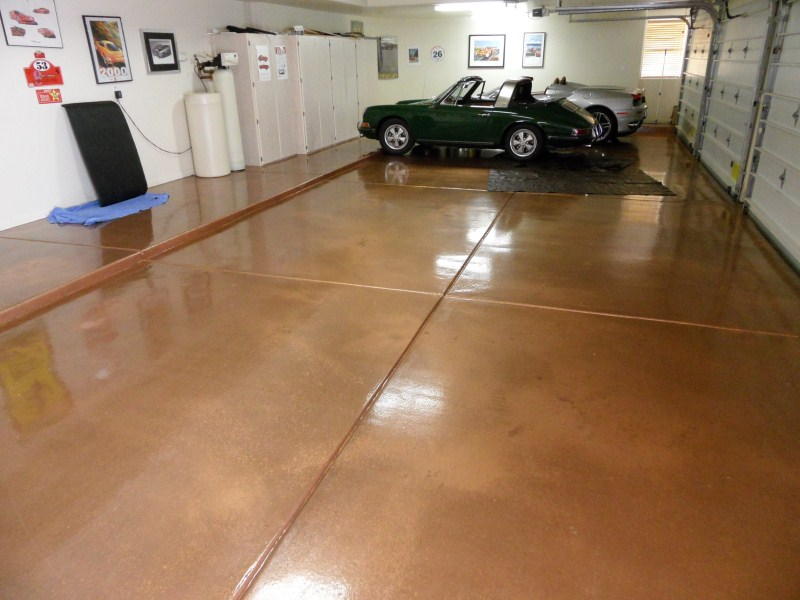 Copper Metallic Epoxy Garage Floor